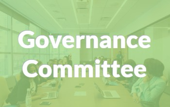 Green background with text that reads Governance Committee