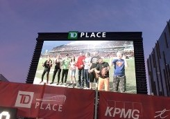 Jumbo screen at RedBlacks home opener