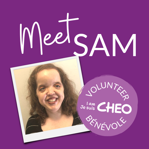 Image of Sam - CHEO Volunteer