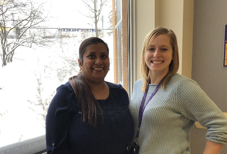 Dr Suntharalingam and Emily Smith