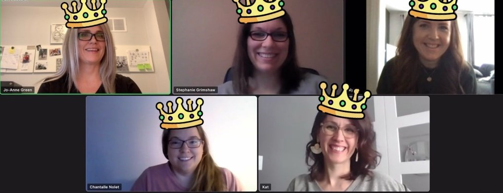 Group photo on Zoom of the COVID Safety Queens